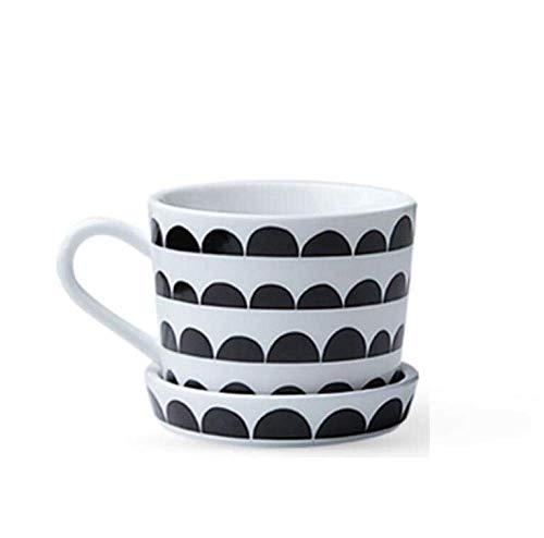 ZGQA-GQA Taza de cerámica de la geometría de la taza de café del plato de la taza de la taza de la oficina