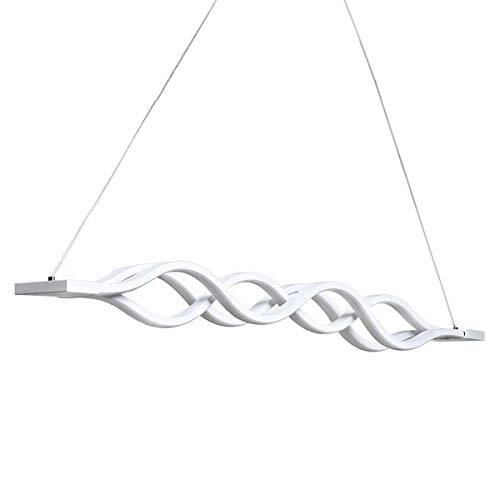 KJLARS LED Pendelleuchte esstisch Hängelampe Wohnzimmer Küche LED-Pendellampe Moderne Aluminium Hängeleuchte mit 3 Wellen, höhenverstellbar, Pendellänge maximum 120cm (Dimmbar)
