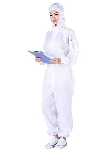 PREMOD Schutzkleidung des Anzug waschbare Schutzkleidung für Frauen Isolation Anzug staubdichte Overalls und Arbeitskleidung mit Kapuze Wiederverwendbare,XL