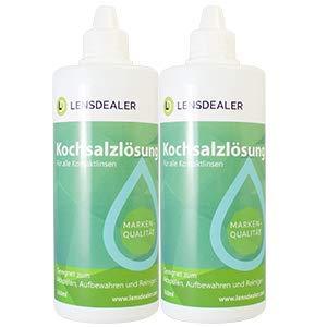 LensDealer Kochsalzlösung Doppelpack 2x 360 ml Pflegemittel für weiche Kontaktlinsen Kontaktlinsenflüssigkeit (2)…