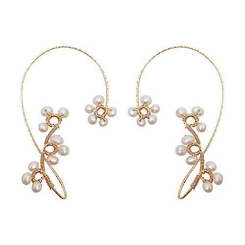 jieGorge Earrings for Women , Fashion No Piercing Beading Ear Hook Handmade Beaded Earrings , Gifts for Women and Girls (B)