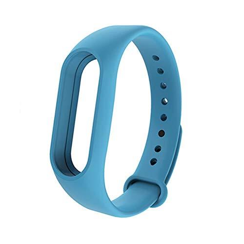 YUSWPX Pulsera Inteligente para MI Band 2 Strap Cinturón de reemplazo de la Pulsera de Silicona para MI Band 2 Pulsera Inteligente para Accesorios Xiaomi (Color : Blue)