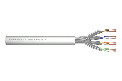DIGITUS Roh-Patchkabel Cat-6A - Meterware Unkonfektioniert - 100 m - U-FTP Netzwerk-Kabel - LSZH - AWG 27/7 - Grau