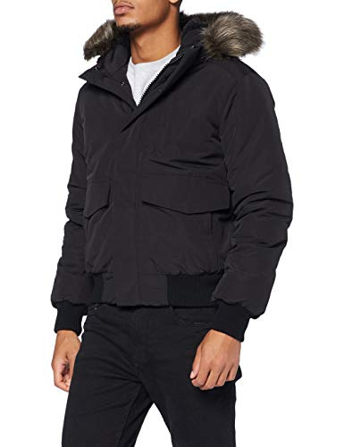 Superdry Mens Everest Bomber Parka, Black, Large