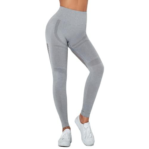 QTJY Leggings sin Costuras, Pantalones de Yoga de Cintura Alta para Mujer con Levantamiento de Cadera, Flexiones de Gimnasio y Leggings para Correr BM