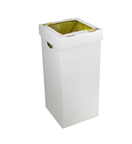 CERVIC - Papelera de Reciclaje de cartón montable sin pegamentos Aneto 1 Residuo 100L (Pack 10 Uds), Talla 35,7 X 35,7 X 81 Cm