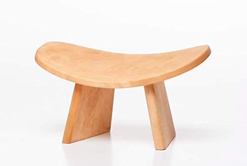 BLUECONY IKUKO Basic Meditation Bench, Wooden Kneeling Ergonomic Seiza - Solid Wood Natural, High Height (8' or 20 cm)