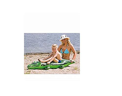 Schwimmtier Reittier Badetier, Krokodil. Aufblasbares Krokodil Alligator für absoluten Badespaß! Mit Haltegriff. Größe aufgeblasen: ca. 145 x 45 cm Badespaß für Kinder / aufblasbares Krokodil / Kinderbadeartikel Krokodil / aufblasbares Reittier Krokodil / aufblasbare Badetiere / aufblasbare Badeartikel für Kinder / aufblasbare Badetiere Krokodil / der ideale Badespass für Schwimmbad , See , Strand oder Bade Urlaub
