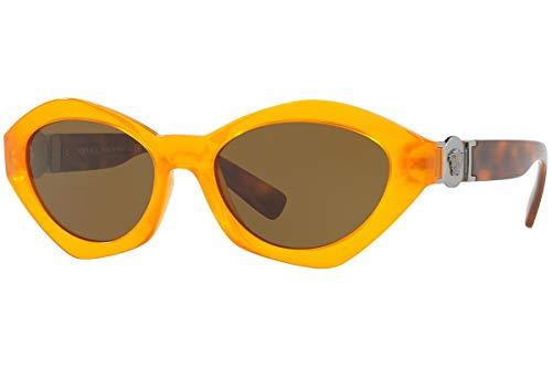 Versace VE4334 zonnebril oranje kristal met bruine glazen 54mm 525773 VE 4334