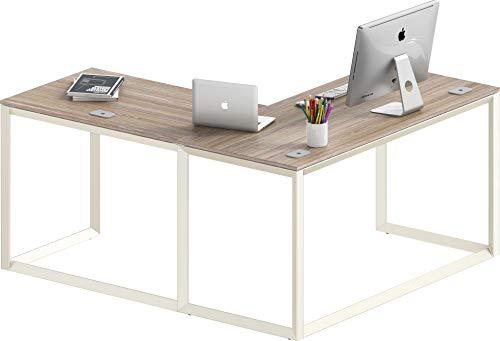 SHW Triangle-Leg L-Shaped Home Office Computer Desk