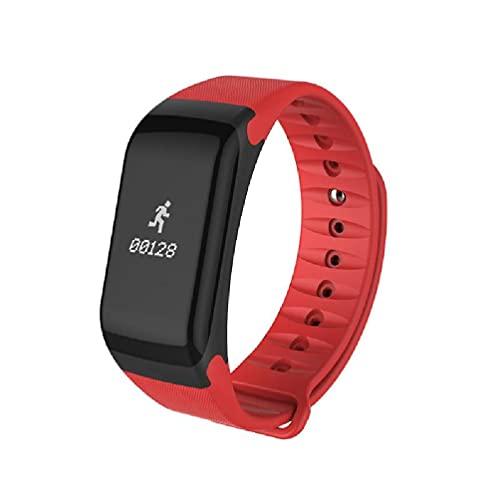 Ydh F1 - Pulsera inteligente con Bluetooth, resistente al agua, presión arterial, monitor de frecuencia cardiaca, fitness, deporte, pulsera inteligente con podómetro, reloj de pulsera para hombre