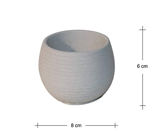 Premium-Kreativbeton Mini-Blumentopf - Grau