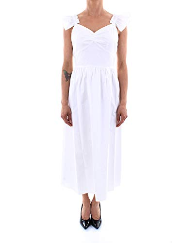 Michael Kors MS08ZL0E5Y Langes Kleid Damen Weiss 2