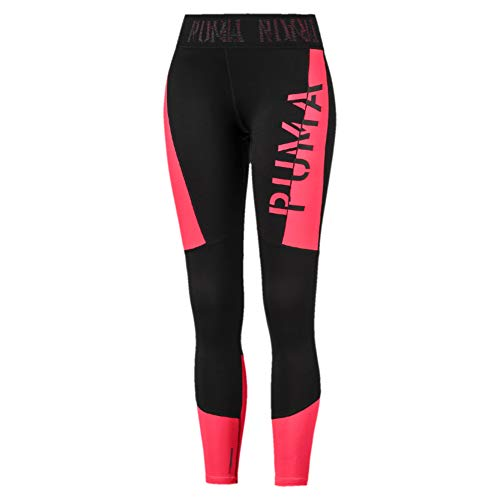 PUMA Damen Logo 7/8 Tight Leggings, Black-Pink Alert, M