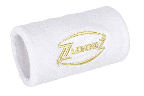 LegendZ - Cinta de deporte de diseño - Práctico bolsillo con cremallera, bolsillo en la muñeca, cinta de deporte para hombres, mujeres en 4 colores, etiqueta bordada en oro |blanco