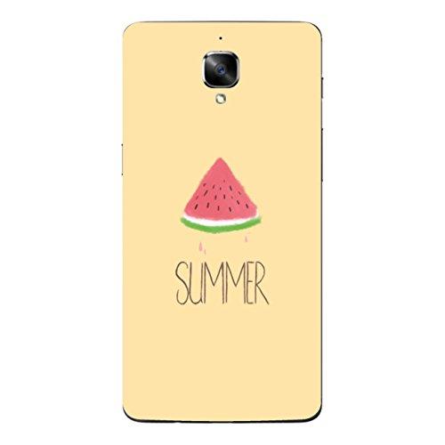 Disagu SF-sdi-5125_1071 Design Skin für OnePlus 3 Rückseite - Motiv Wassermelone Sommer orange