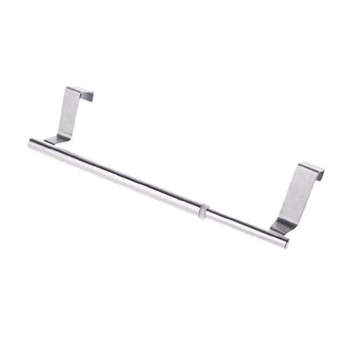 Ydh Scwopeuer Extensible sobre puerta toallero barra soporte colgante cuarto de baño cocina hotel armario armario estante riel acero inoxidable portatoallas para cuarto de baño