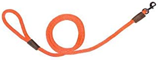 "Warner Braided Nylon Rope Snap Lead Dog Leash 1/2"" X 6 Ft. (Orange)"