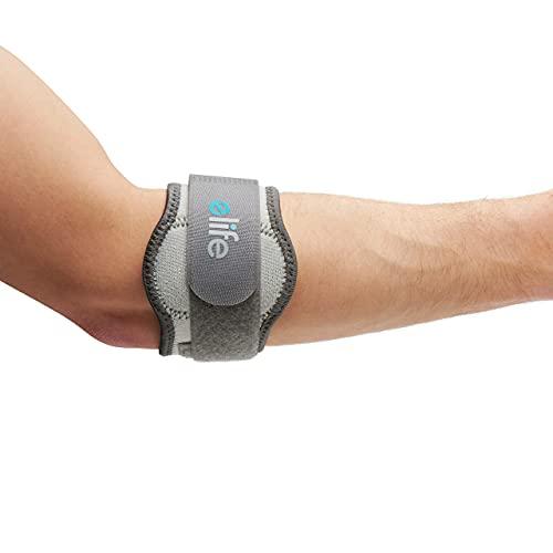 Elife Tennisarm Bandage   Unterarmbandage zur Schmerzlinderung der Sehnenansätze   stützt Ellenbogengelenk & Muskeln   bei Schmerzen + zur Vorbeugung   Links & rechts (M)