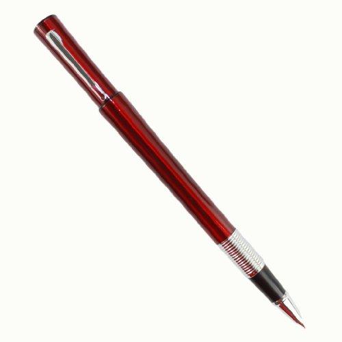 Gullor Famous Guangzhou tower Waistline tyle fine nib fountain pen Jinhao 15 red