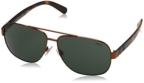 Polo Ralph Lauren Herren 0PH3110 931771 Sonnenbrille, Gold (Demishiny Bronze/Green), 60
