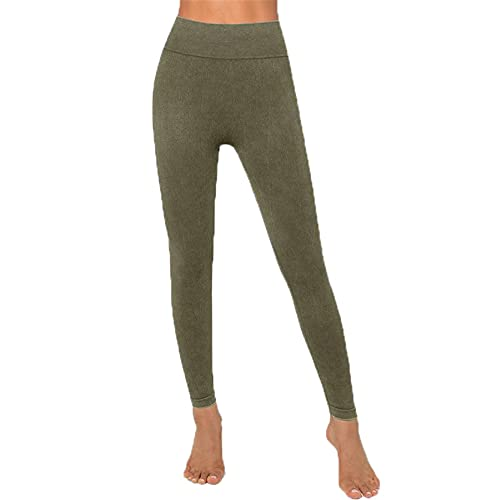 Leggins Mujer Push Up Pantalones Fitness Mallas, Leggings de gimnasio sin costuras de cintura alta de las mujeres Longitud de tobillo Longitud de tobillo Pantalones de yoga Squat a prueba de pinchazos