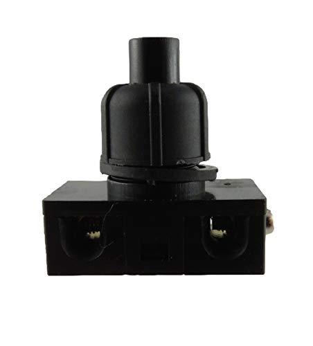 Einbau Druckschalter Schwarz für Lampen 250V 2A