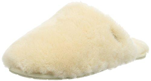 Ugg Australia UGG W Fluff Clog, Damen Ungefüttert Pantoffeln Hausschuhe, Beige (Natural), 36 EU (3.5 Damen UK)