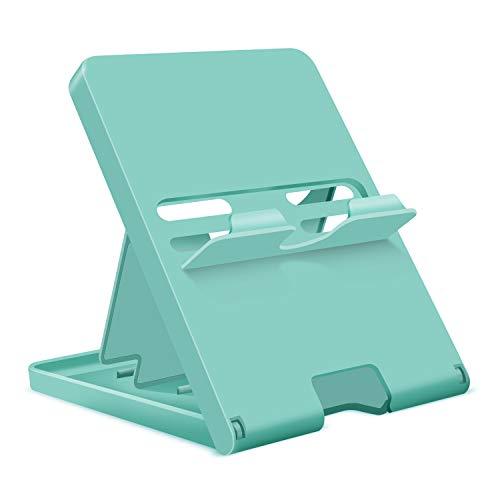 【Nintendo Switch/Switch Lite対応】プレイスタンド ニンテンドースイッチ スイッチライト スタンド 卓上ホルダー スイッチスタンド 携帯置き台 折り畳み式 角度調整可能 超薄型 滑り止め コンパクト 持ち運び 充電ケーブル差し込み可能 Switch/Switch Lite/iPhone/Android/iPadなど対応 (ブルー)
