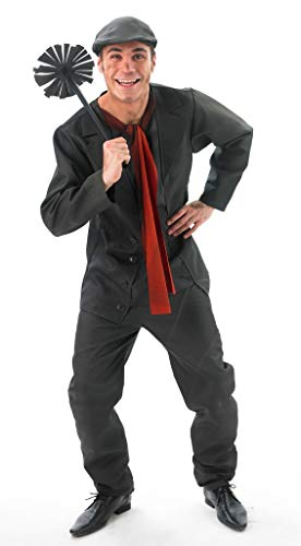 Rubies 's–Disfraz de Oficial de Disney Mary Poppins Bert, Adulto–tamaño estándar