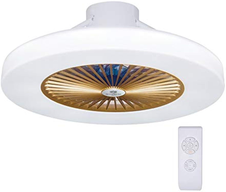 LED Modern Deckenventilator Licht, LED Dimmbar Fan Deckenleuchte moderne Deckenlampe, Deckenventilatoren mit beleuchtung und Fernbedienung, Metall, Innenbeleuchtung Schlafzimmer Küche Wohnzimmerlampe