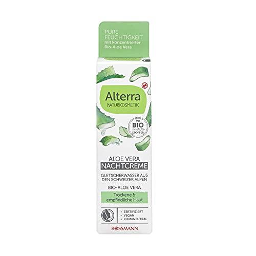 Alterra Naturkosmetik-Nachtcreme Bio-Aloe Vera & Gletscherwasser