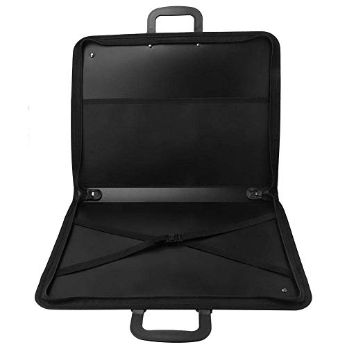 N-brand Art Portfolio Case PVC Carrying Case Portable Drawing Board A3 Drawing Board Storage Bag 14.6 x 18.9 inches Black