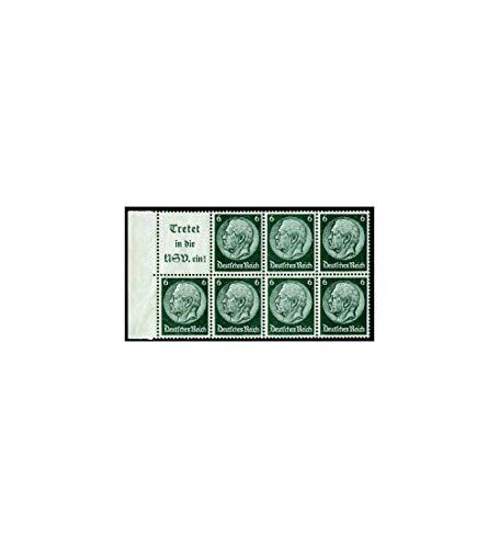 Goldhahn Deutsches Reich Markenheftchenblatt Nr. 96 postfrisch ** Hindenburg A15+6 Pfennig Briefmarken für Sammler