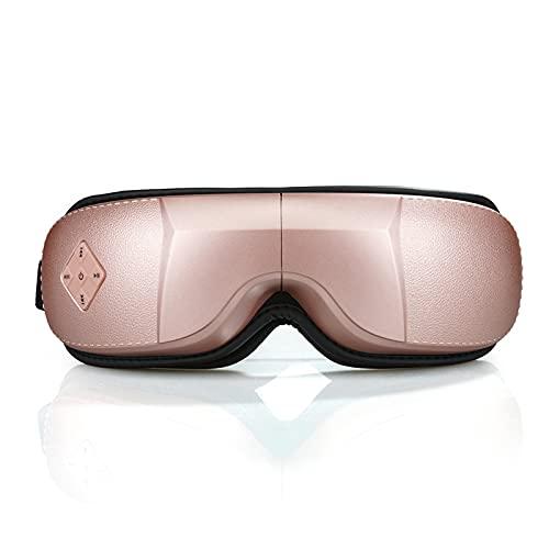 Masajeador de ojos inalámbrico, máscara de ojos plegable con vibración de múltiples frecuencias, masaje de punto de presión, compresión de calor y música relajante for la presión de la sien / tensión