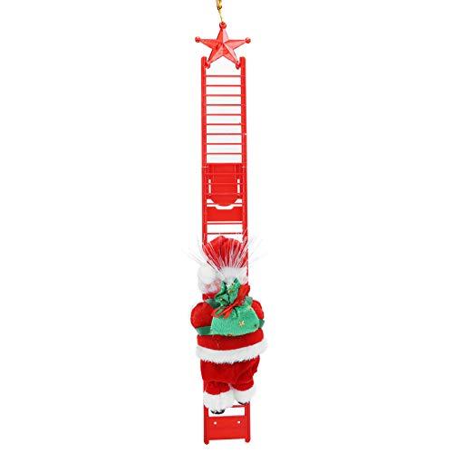 JULYKAI Escalera de Escalada eléctrica fácil de Instalar, muñeco de Adorno navideño,...