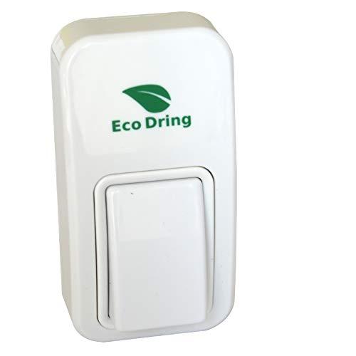 EcoDring Bouton Seul sans Pile sans Fil - Rendez-Vous TX - Garantie 3 Ans - jusqu'à 140m
