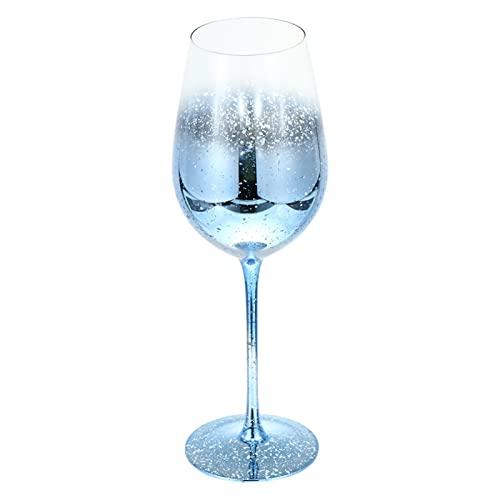 Copas Vino Cristal Azul Marca YKW