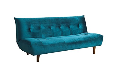 Sofa Bed with Tufted Back Teal