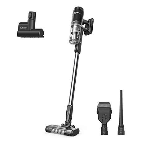 Aspiradora Escoba Sin Cable,Arnagar 4 en 1 Potente Sspiradora de Escoba con Luz LED Multifunción, 350 W, 20 KPa, Capacidad de Batería 2500 mAh, para Alfombras, Suelos y Pelo de Animales