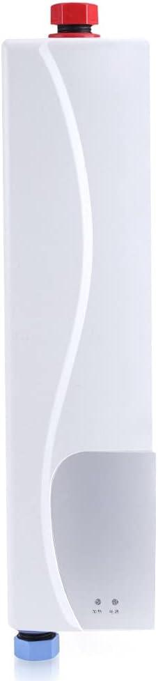 Mini-Elektro-Durchlauferhitzer, 3000 W, Elektro-Tankless, tragbar, sofort warm, für Küche, Badezimmer, 220 V, Mini-Durchlauferhitzer, automatischer…