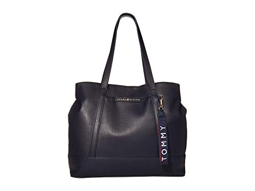 Tommy Hilfiger Lottie Smooth PVC Tote Tommy Navy One Size