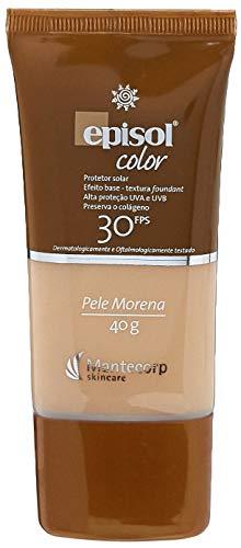 Protetor Solar Color Pele Morena FPS 30, 40g, Episol