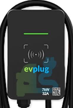 evplug / Ricarica wallbox Standard Europeo ev Cavo di Ricarica, PHEV | Scatola di Ricarica commutabile | 7.2kW | Tipo 2 IEC 62196-2 | 4 m | Compatible ZOE, KONA, E-208, 3, ID.3, MII, etc