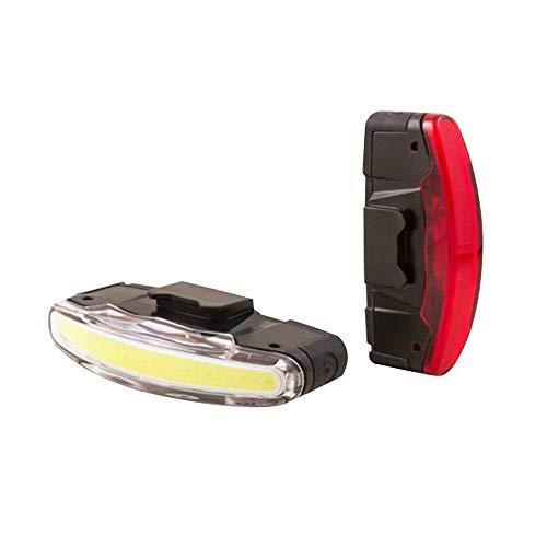 JOS Fahrrad-Beleuchtung, USB, spanninga Arco, Schwarz, 3 Funktionen, Standard, Eco, Flash (Akkulaufzeit: 5 Stunden bis 10 Stunden)