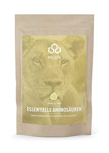 edubily® veganes EAA Pulver • Hochwertiger EAA-Komplex aus 8 essentiellen Aminosäuren • Mit leckeren Geschmacksrichtungen • 100{5d5508e79ea18d8a259cfae0475046c72320ca44ced3c6e11b1d56a3fe130d1e} Recyclingfähig