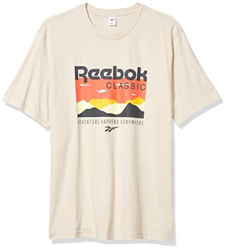 Reebok Unisex-Erwachsene Classic Trail Graphic Tee kurzärmelig, Stuck, Large