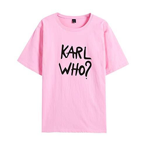 INSTO T-Shirt Karl Lagerfeld Gedruckt T Unterhemd Sportbekleidung Fitness Tragen Unisex Optional Multi-Größe/Rosa/L