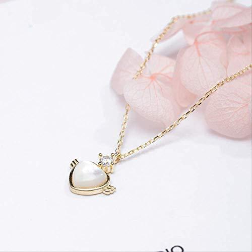 S925 zilveren schoonheid liefde vleugel halsketting vrouwelijke natuurlijke kattenoog steen mozaïek spiegel polijsten proces 925 Silber goud