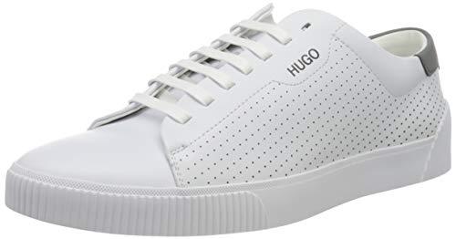 HUGO Zero_Tenn_nals, Herren Sneaker, White100, 45 EU (11 UK)
